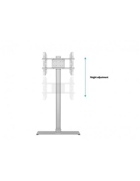 Multibrackets M Display Stand 180 Single Silver w. Floorbase Multibrackets 7350073732418 - 9