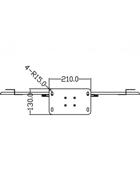 """Multibrackets 2418 kyltin näyttökiinnike 160 cm (63"""") Hopea Multibrackets 7350073732418 - 20"""