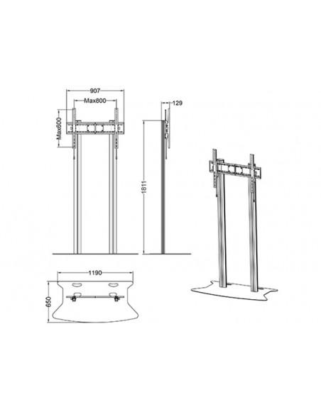 """Multibrackets 2555 kyltin näyttökiinnike 2.79 m (110"""") Hopea Multibrackets 7350073732555 - 9"""