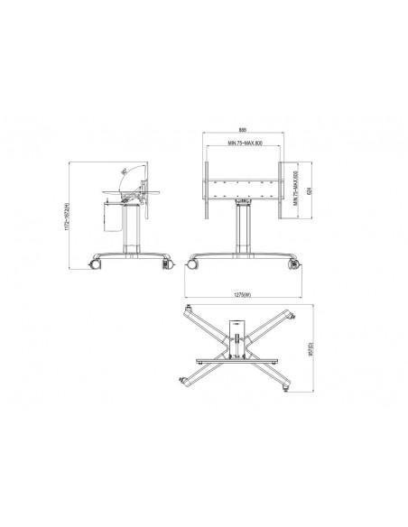 Multibrackets M Motorized Touch Tilt & Table 120 kg Max Multibrackets 7350073733927 - 10