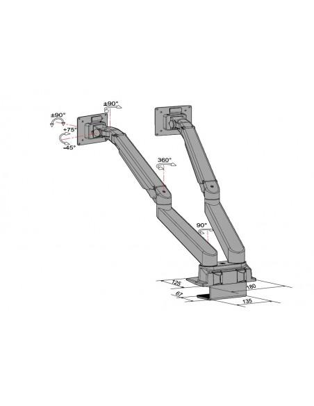 Multibrackets M VESA Gas Lift Arm Dual Side by Black Multibrackets 7350073733965 - 21