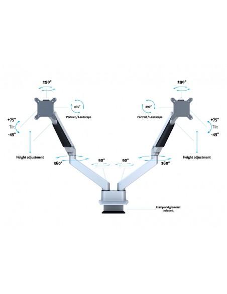 Multibrackets M VESA Gas Lift Arm Dual Side by Silver Multibrackets 7350073733972 - 8
