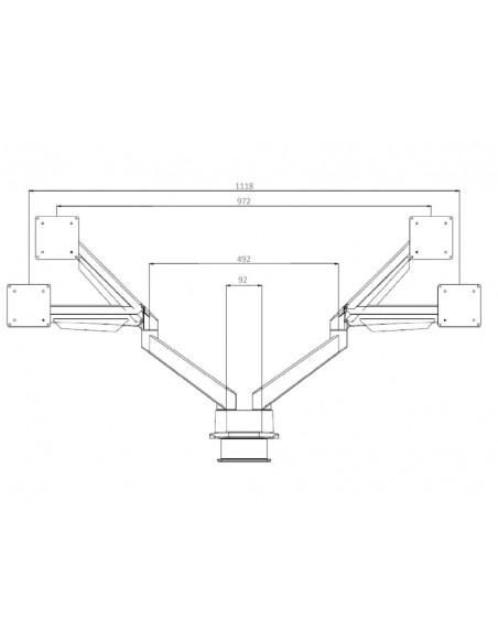 """Multibrackets 3972 monitorin kiinnike ja jalusta 81.3 cm (32"""") Puristin Hopea Multibrackets 7350073733972 - 22"""