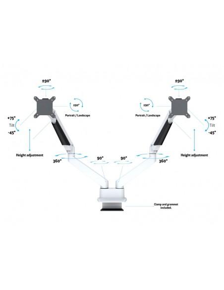 """Multibrackets 3989 monitorin kiinnike ja jalusta 81.3 cm (32"""") Puristin Valkoinen Multibrackets 7350073733989 - 8"""