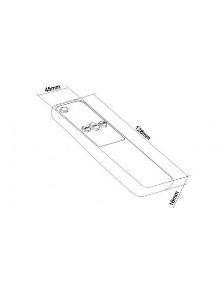 Multibrackets 4283 kauko-ohjain Taulutelevision kattokiinnikkeet Painikkeiden painaminen Multibrackets 7350073734283 - 3