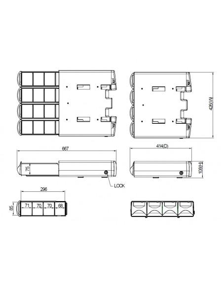 Multibrackets M Workstation Cart Drawer IIII Multibrackets 7350073734375 - 8