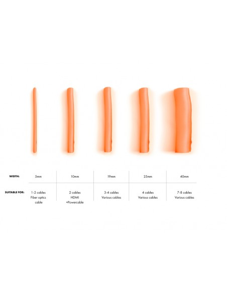 Multibrackets 4399 kaapelinjärjestäjä Kaapelisukka Oranssi 1 kpl Multibrackets 7350073734399 - 4