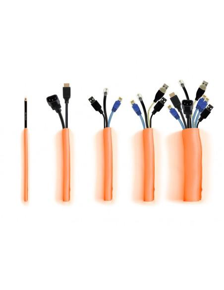 Multibrackets 4474 kaapelinjärjestäjä Kaapelisukka Oranssi 1 kpl Multibrackets 7350073734474 - 6