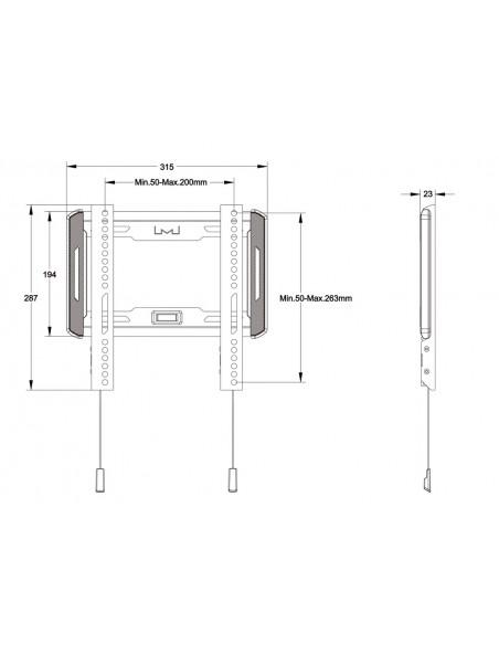 """Multibrackets 5631 TV-kiinnike 139.7 cm (55"""") Musta Multibrackets 7350073735631 - 8"""