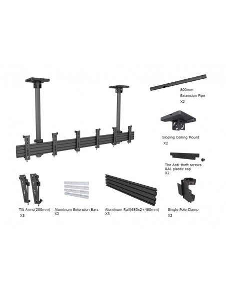 Multibrackets M Menu Board Mount Pro MBC3X1U VESA 200 Multibrackets 7350073735662 - 6