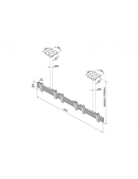 Multibrackets M Menu Board Mount Pro MBC3X1U VESA 200 Multibrackets 7350073735662 - 9