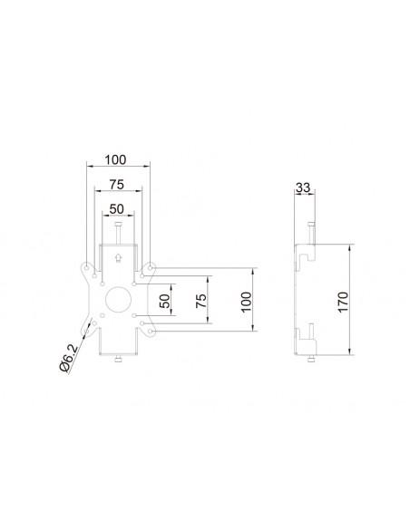 Multibrackets M Monitor Mount Fixed Pro 50/75/100 Multibrackets 7350073736300 - 14
