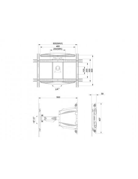 """Multibrackets 6317 kyltin näyttökiinnike 2.16 m (85"""") Musta Multibrackets 7350073736317 - 13"""