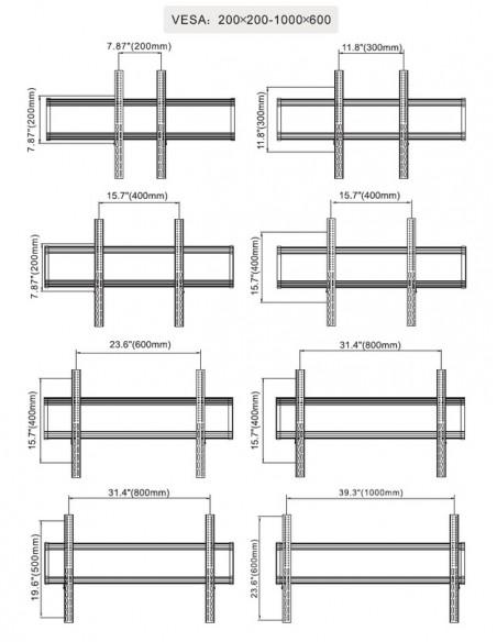 Multibrackets 6324 monitorikiinnikkeen lisävaruste Multibrackets 7350073736324 - 25