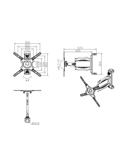 Multibrackets M Pro Series - VESA Flexarm 400 Multibrackets 7350073736331 - 9