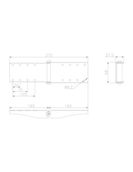 Multibrackets M Pro Series - Curved Screen Rail Joiner Multibrackets 7350073736348 - 8