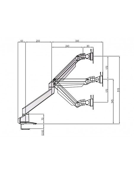Multibrackets M VESA Gas Lift Arm w. Duo Crossbar 2 Black Multibrackets 7350073736355 - 18