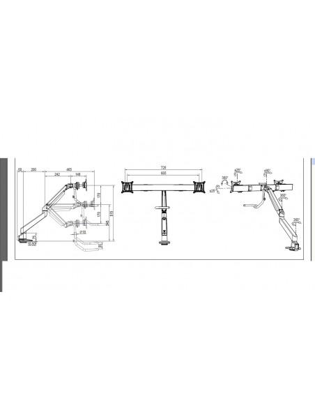 """Multibrackets 6355 fäste och ställ till bildskärm 71.1 cm (28"""") Klämma Svart Multibrackets 7350073736355 - 19"""