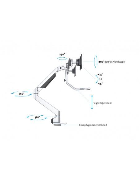 """Multibrackets 6362 fäste och ställ till bildskärm 71.1 cm (28"""") Klämma Silver Multibrackets 7350073736362 - 17"""