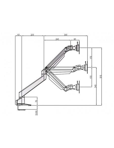 """Multibrackets 6379 monitorin kiinnike ja jalusta 71.1 cm (28"""") Puristin Valkoinen Multibrackets 7350073736379 - 19"""