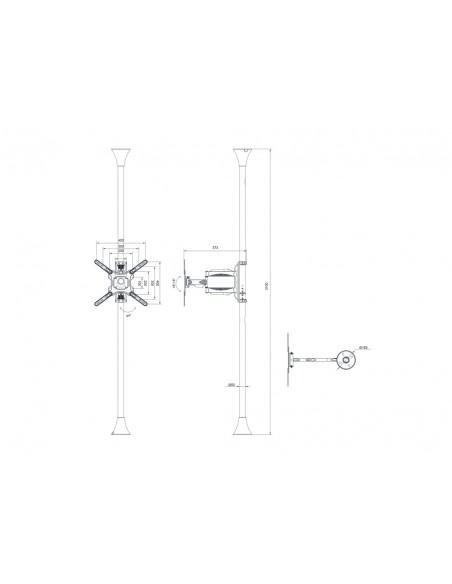 """Multibrackets 6409 kyltin näyttökiinnike 139.7 cm (55"""") Musta Multibrackets 7350073736409 - 13"""