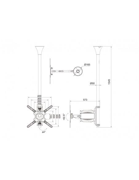 """Multibrackets 6423 fäste för skyltningsskärm 106.7 cm (42"""") Svart Multibrackets 7350073736423 - 15"""