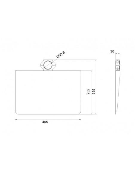 Multibrackets M Pro Series - AV Shelf Multibrackets 7350073736430 - 15