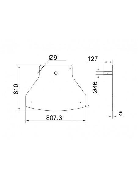 Multibrackets 6447 monitorikiinnikkeen lisävaruste Multibrackets 7350073736447 - 9