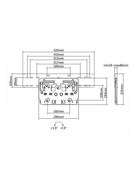 """Multibrackets 6478 TV-kiinnike 190.5 cm (75"""") Musta Multibrackets 7350073736478 - 10"""