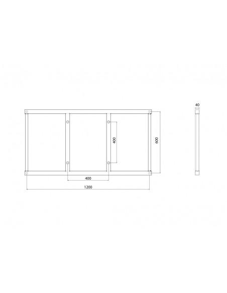 Multibrackets M Extender Kit Push SD 1200x600 Multibrackets 7350073736522 - 6