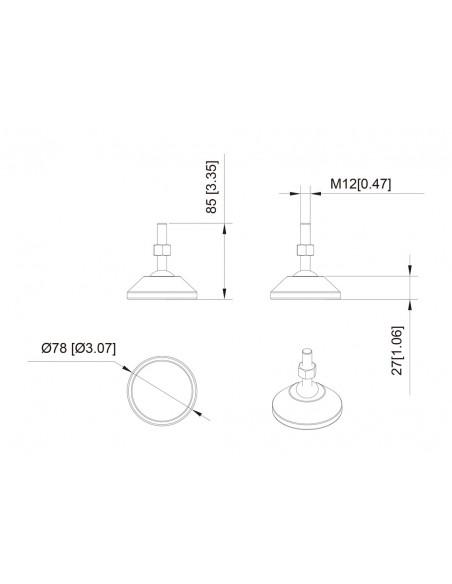 Multibrackets M Pro Series - Adjustable Feet Multibrackets 7350073736577 - 4