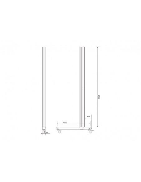 Multibrackets M Pro Series - Wheelbase 270cm inc castors Multibrackets 7350073736607 - 8