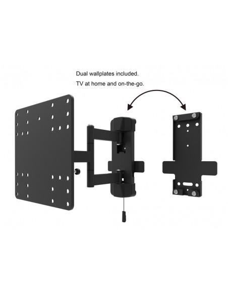 """Multibrackets 6843 TV-kiinnike 109.2 cm (43"""") Musta Multibrackets 7350073736843 - 7"""