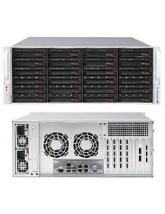 Supermicro 6048R-E1CR24H Intel® C612 LGA 2011 (Socket R) Teline ( 4U ) Musta, Harmaa Supermicro SSG-6048R-E1CR24H - 1