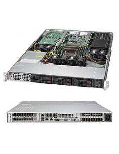 Supermicro SuperServer 1018GR-T Intel® C612 LGA 2011 (Socket R) Rack (1U) Svart, Silver Supermicro SYS-1018GR-T - 1